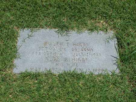 HIRBY, RUBY ARLINE - Pulaski County, Arkansas | RUBY ARLINE HIRBY - Arkansas Gravestone Photos