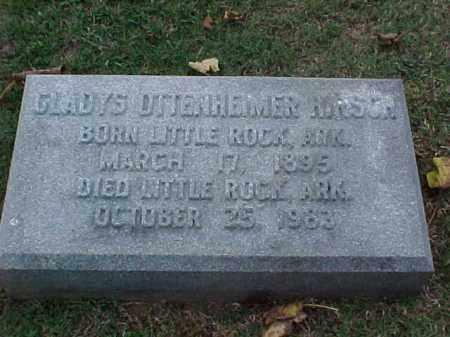 OTTENHEIMER HIRSCH, GLADYS - Pulaski County, Arkansas | GLADYS OTTENHEIMER HIRSCH - Arkansas Gravestone Photos