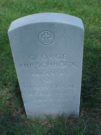HIRSCHBOCK (VETERAN WWI), GEORGE - Pulaski County, Arkansas | GEORGE HIRSCHBOCK (VETERAN WWI) - Arkansas Gravestone Photos