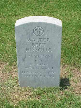 HISSONG (VETERAN WWI), WALTER BERT - Pulaski County, Arkansas | WALTER BERT HISSONG (VETERAN WWI) - Arkansas Gravestone Photos