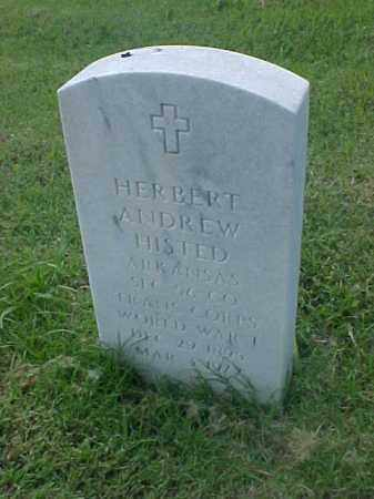 HISTED (VETERAN WWI), HERBERT ANDREW - Pulaski County, Arkansas | HERBERT ANDREW HISTED (VETERAN WWI) - Arkansas Gravestone Photos