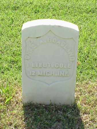 HOAGLAND (VETERAN UNION), CHARLES A - Pulaski County, Arkansas | CHARLES A HOAGLAND (VETERAN UNION) - Arkansas Gravestone Photos