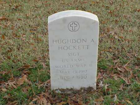 HOCKETT  (VETERAN WWII), HUGHDON A - Pulaski County, Arkansas | HUGHDON A HOCKETT  (VETERAN WWII) - Arkansas Gravestone Photos