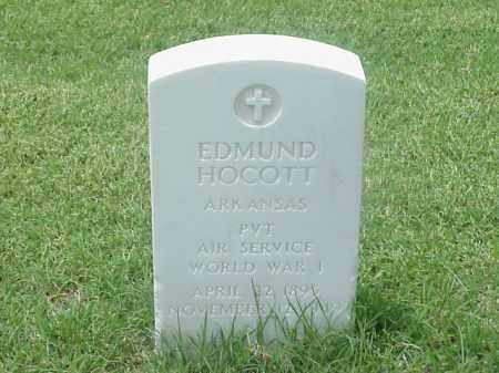 HOCOTT (VETERAN WWI), EDMUND - Pulaski County, Arkansas | EDMUND HOCOTT (VETERAN WWI) - Arkansas Gravestone Photos