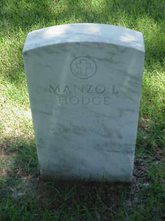 HODGE (VETERAN WWII), MANZO L - Pulaski County, Arkansas | MANZO L HODGE (VETERAN WWII) - Arkansas Gravestone Photos