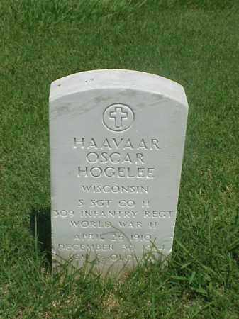 HOGELEE (VETERAN WWII), HAAVAAR OSCAR - Pulaski County, Arkansas | HAAVAAR OSCAR HOGELEE (VETERAN WWII) - Arkansas Gravestone Photos