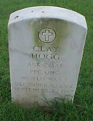 HOGG (VETERAN WWI), CLAY - Pulaski County, Arkansas | CLAY HOGG (VETERAN WWI) - Arkansas Gravestone Photos