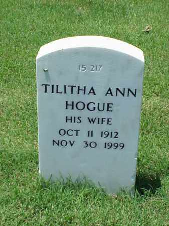 HOGUE, TILITHA ANN - Pulaski County, Arkansas | TILITHA ANN HOGUE - Arkansas Gravestone Photos