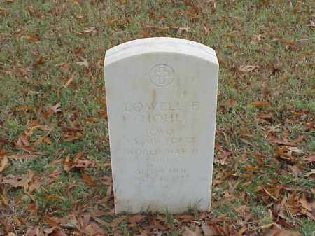 HOHL  (VETERAN WWII), LOWELL E - Pulaski County, Arkansas | LOWELL E HOHL  (VETERAN WWII) - Arkansas Gravestone Photos