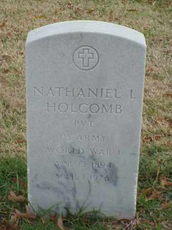 HOLCOMB  (VETERAN WWI), NATHANIEL L - Pulaski County, Arkansas | NATHANIEL L HOLCOMB  (VETERAN WWI) - Arkansas Gravestone Photos