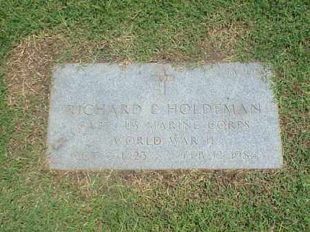 HOLDEMAN (VETERAN WWII), RICHARD E - Pulaski County, Arkansas | RICHARD E HOLDEMAN (VETERAN WWII) - Arkansas Gravestone Photos