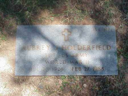 HOLDERFIELD (VETERAN WWII), AUBREY J - Pulaski County, Arkansas | AUBREY J HOLDERFIELD (VETERAN WWII) - Arkansas Gravestone Photos