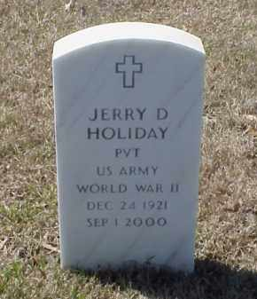 HOLIDAY (VETERAN WWII), JERRY D - Pulaski County, Arkansas | JERRY D HOLIDAY (VETERAN WWII) - Arkansas Gravestone Photos