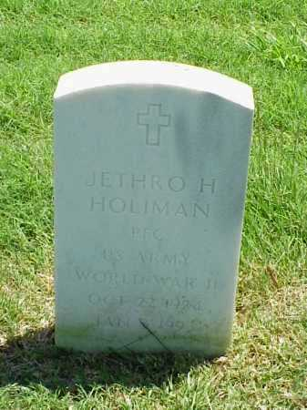HOLIMAN (VETERAN WWII), JETHRO H - Pulaski County, Arkansas | JETHRO H HOLIMAN (VETERAN WWII) - Arkansas Gravestone Photos