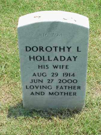 HOLLADAY, DOROTHY L - Pulaski County, Arkansas | DOROTHY L HOLLADAY - Arkansas Gravestone Photos
