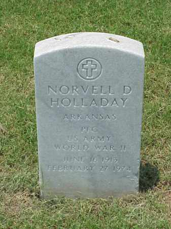 HOLLADAY (VETERAN WWII), NORVELL D - Pulaski County, Arkansas | NORVELL D HOLLADAY (VETERAN WWII) - Arkansas Gravestone Photos