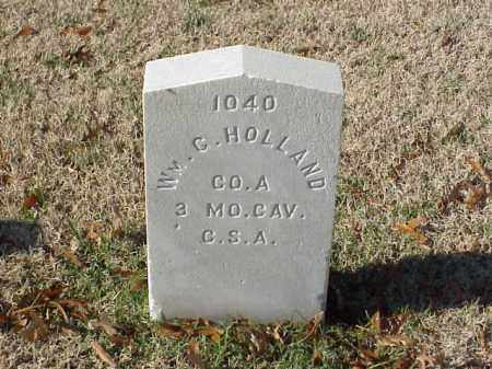 HOLLAND  (VETERAN CSA), WILLIAM G - Pulaski County, Arkansas | WILLIAM G HOLLAND  (VETERAN CSA) - Arkansas Gravestone Photos