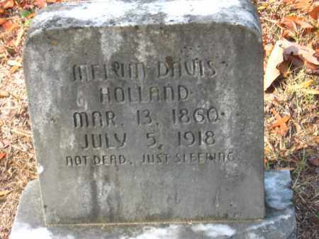 HOLLAND, MELVIN DAVIS - Pulaski County, Arkansas | MELVIN DAVIS HOLLAND - Arkansas Gravestone Photos