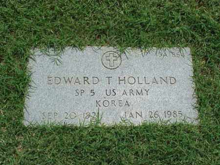 HOLLAND (VETERAN KOR), EDWARD T - Pulaski County, Arkansas | EDWARD T HOLLAND (VETERAN KOR) - Arkansas Gravestone Photos