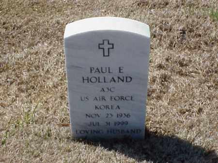 HOLLAND (VETERAN KOR), PAUL E - Pulaski County, Arkansas | PAUL E HOLLAND (VETERAN KOR) - Arkansas Gravestone Photos