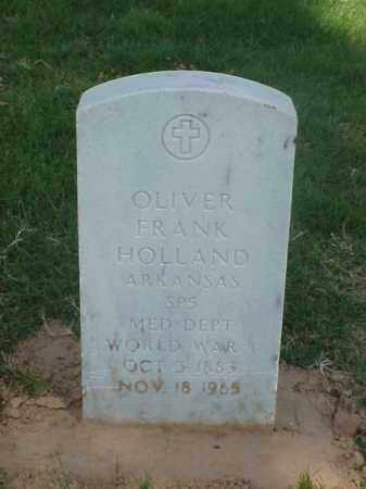 HOLLAND (VETERAN WWI), OLIVER FRANK - Pulaski County, Arkansas | OLIVER FRANK HOLLAND (VETERAN WWI) - Arkansas Gravestone Photos