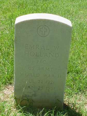 HOLLAND (VETERAN WWII), EMRAL W - Pulaski County, Arkansas | EMRAL W HOLLAND (VETERAN WWII) - Arkansas Gravestone Photos