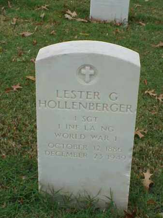 HOLLENBERGER  (VETERAN WWI), LESTER G - Pulaski County, Arkansas | LESTER G HOLLENBERGER  (VETERAN WWI) - Arkansas Gravestone Photos
