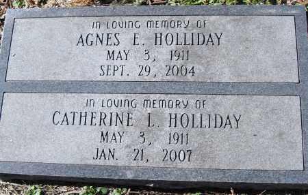 HOLLIDAY, AGNES E - Pulaski County, Arkansas | AGNES E HOLLIDAY - Arkansas Gravestone Photos
