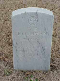 HOLLIMAN  (VETERAN WWII), A D - Pulaski County, Arkansas | A D HOLLIMAN  (VETERAN WWII) - Arkansas Gravestone Photos