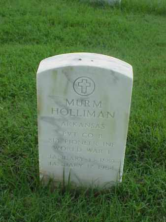 HOLLIMAN (VETERAN WWI), MURM - Pulaski County, Arkansas | MURM HOLLIMAN (VETERAN WWI) - Arkansas Gravestone Photos