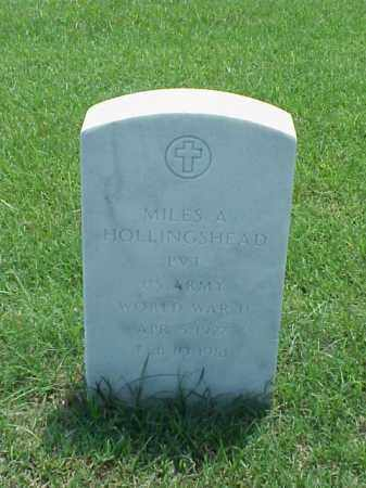 HOLLINGSHEAD (VETERAN WWII), MILES A - Pulaski County, Arkansas | MILES A HOLLINGSHEAD (VETERAN WWII) - Arkansas Gravestone Photos