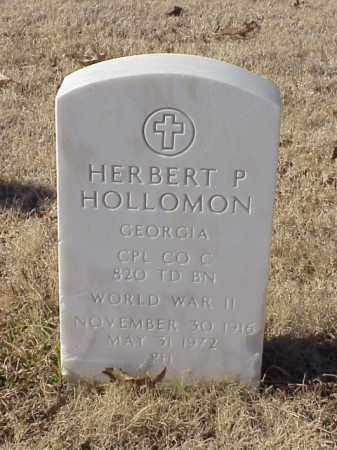 HOLLOMON  (VETERAN WWII), HERBERT P - Pulaski County, Arkansas | HERBERT P HOLLOMON  (VETERAN WWII) - Arkansas Gravestone Photos