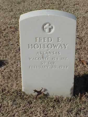 HOLLOWAY  (VETERAN WWI), FRED E - Pulaski County, Arkansas | FRED E HOLLOWAY  (VETERAN WWI) - Arkansas Gravestone Photos