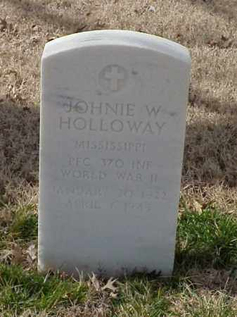 HOLLOWAY  (VETERAN WWII), JOHNIE W - Pulaski County, Arkansas | JOHNIE W HOLLOWAY  (VETERAN WWII) - Arkansas Gravestone Photos