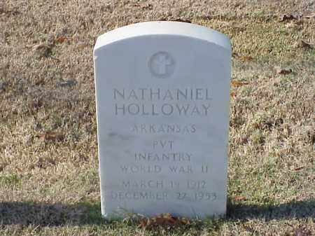 HOLLOWAY  (VETERAN WWII), NATHANIEL - Pulaski County, Arkansas | NATHANIEL HOLLOWAY  (VETERAN WWII) - Arkansas Gravestone Photos
