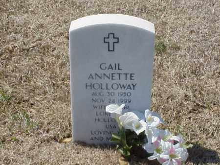 HOLLOWAY, GAIL ANNETTE - Pulaski County, Arkansas | GAIL ANNETTE HOLLOWAY - Arkansas Gravestone Photos