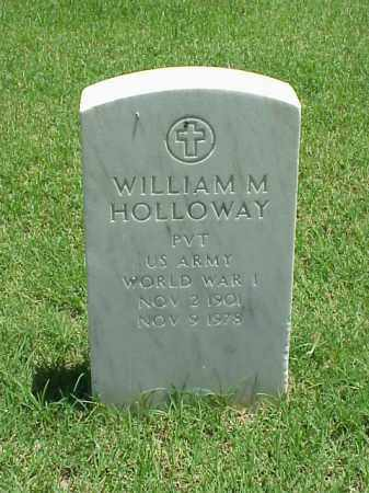 HOLLOWAY (VETERAN WWI), WILLIAM M - Pulaski County, Arkansas | WILLIAM M HOLLOWAY (VETERAN WWI) - Arkansas Gravestone Photos