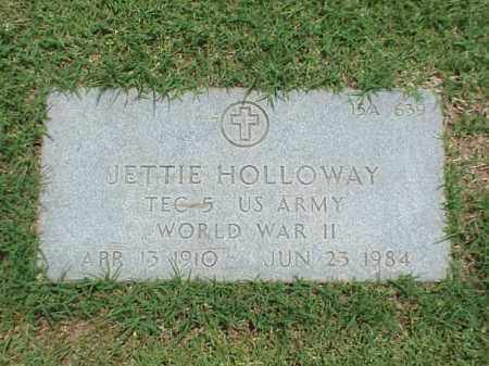 HOLLOWAY (VETERAN WWII), JETTIE - Pulaski County, Arkansas | JETTIE HOLLOWAY (VETERAN WWII) - Arkansas Gravestone Photos