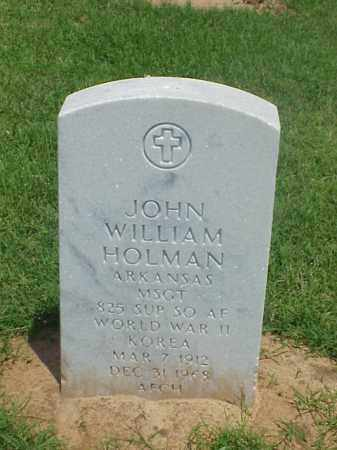 HOLMAN (VETERAN 2 WARS), JOHN WILLIAM - Pulaski County, Arkansas | JOHN WILLIAM HOLMAN (VETERAN 2 WARS) - Arkansas Gravestone Photos