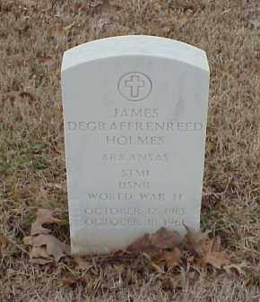 HOLMES  (VETERAN WWII), JAMES DEGRAFFRENREED - Pulaski County, Arkansas | JAMES DEGRAFFRENREED HOLMES  (VETERAN WWII) - Arkansas Gravestone Photos