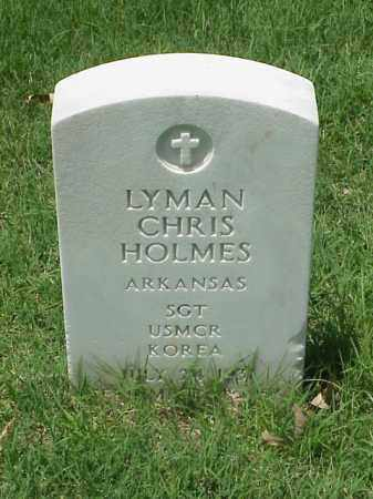 HOLMES (VETERAN KOR), LYMAN CHRIS - Pulaski County, Arkansas | LYMAN CHRIS HOLMES (VETERAN KOR) - Arkansas Gravestone Photos