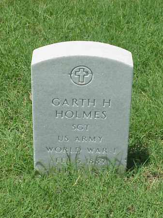 HOLMES (VETERAN WWI), GARTH H - Pulaski County, Arkansas | GARTH H HOLMES (VETERAN WWI) - Arkansas Gravestone Photos