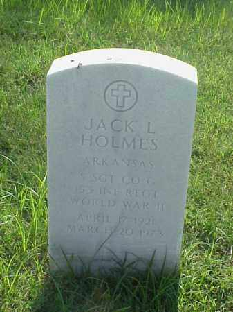 HOLMES (VETERAN WWII), JACK L - Pulaski County, Arkansas | JACK L HOLMES (VETERAN WWII) - Arkansas Gravestone Photos