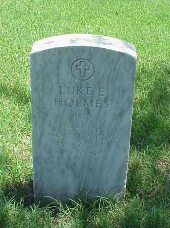 HOLMES (VETERAN WWII), LUKE E - Pulaski County, Arkansas | LUKE E HOLMES (VETERAN WWII) - Arkansas Gravestone Photos