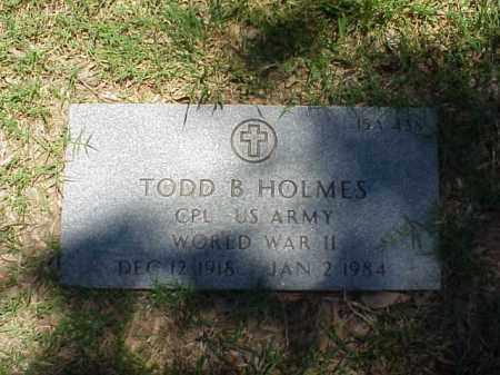 HOLMES (VETERAN WWII), TODD B - Pulaski County, Arkansas | TODD B HOLMES (VETERAN WWII) - Arkansas Gravestone Photos