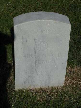 HOLMES (VETERAN WWII), VIRGINIA B - Pulaski County, Arkansas   VIRGINIA B HOLMES (VETERAN WWII) - Arkansas Gravestone Photos