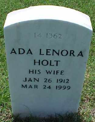 HOLT, ADA LENORA - Pulaski County, Arkansas | ADA LENORA HOLT - Arkansas Gravestone Photos
