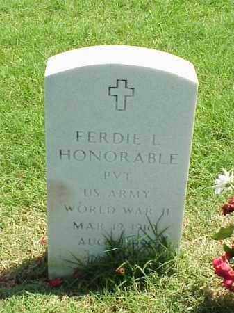 HONORABLE (VETERAN WWII), FERDIE L - Pulaski County, Arkansas | FERDIE L HONORABLE (VETERAN WWII) - Arkansas Gravestone Photos