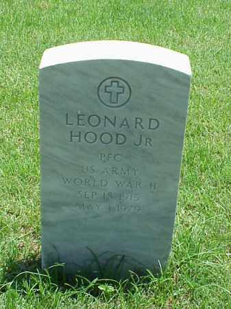 HOOD, JR (VETERAN WWII), LEONARD - Pulaski County, Arkansas | LEONARD HOOD, JR (VETERAN WWII) - Arkansas Gravestone Photos
