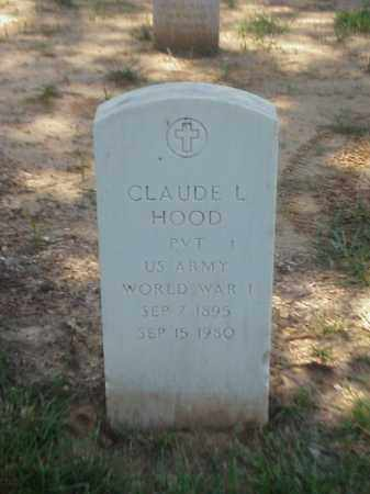 HOOD (VETERAN WWI), CLAUDE L - Pulaski County, Arkansas | CLAUDE L HOOD (VETERAN WWI) - Arkansas Gravestone Photos